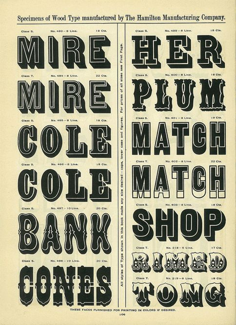 A Treasury of Wood Type Online | News, Notes & Observations | Hoefler & Co.