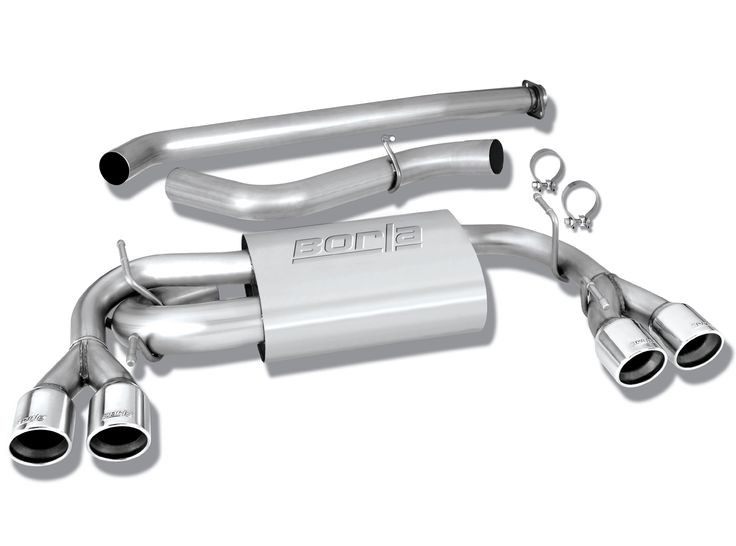 "Subaru WRX  2008-2011 Borla 3"", 2.25"" Cat-Back Exhaust System - Dual Round Rolled Angle-Cut"