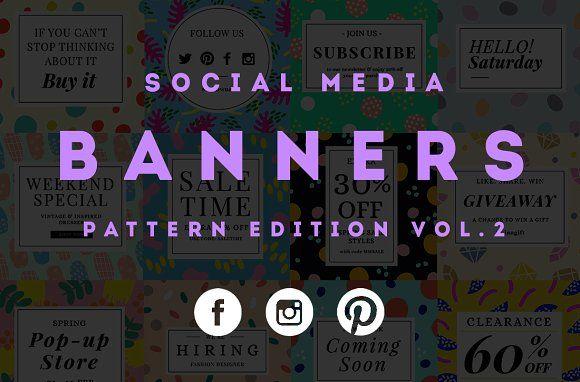 Social Media Banner Template Vol.2 by Zeus on @creativemarket