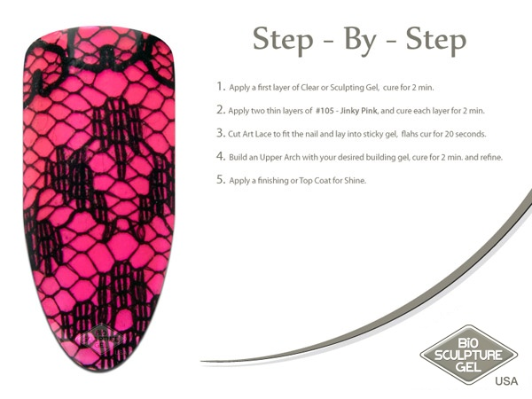 Pink lace step-by-step
