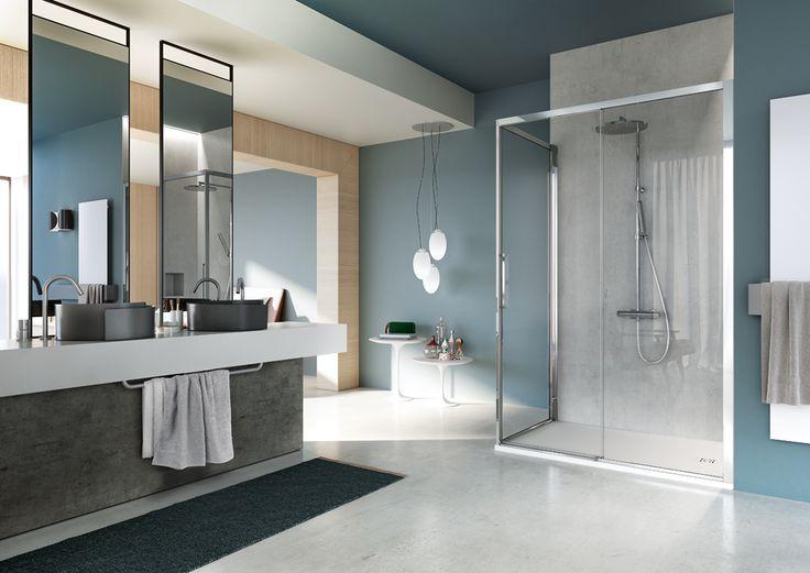Serie 7000 è un sistema completo, adattabile ad una ampia gamma di misure, ed utilizzabile per soluzioni in nicchia, ad angolo e a parete. - #bathroom #bathroomdesign #bath #showerthis #bathtub #showerenclosure #boxdoccia #cabinadoccia