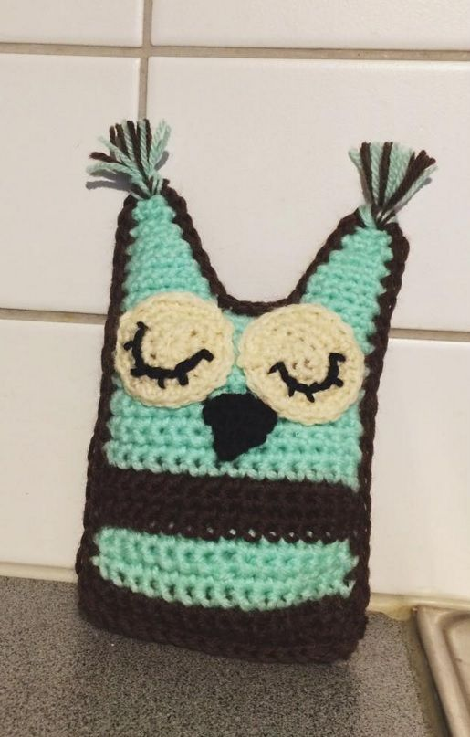 Little crochet owl I made for my nephew for last Christmas.<3