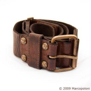 Italian Leather Belt: MASSIMO, handmade Italian Leather men's belt