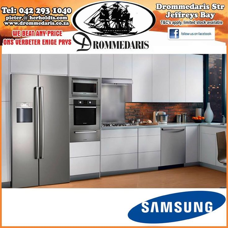 We are authorised distributors for most of South Africa's leading brands in furniture and appliances, visit us at Drommedaris and have a look at our high quality collection of Samsung appliances. #lifestyle #homeimprovement #samsung