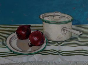 Red Onion Marmalade Oil on Panel by Olive Stack