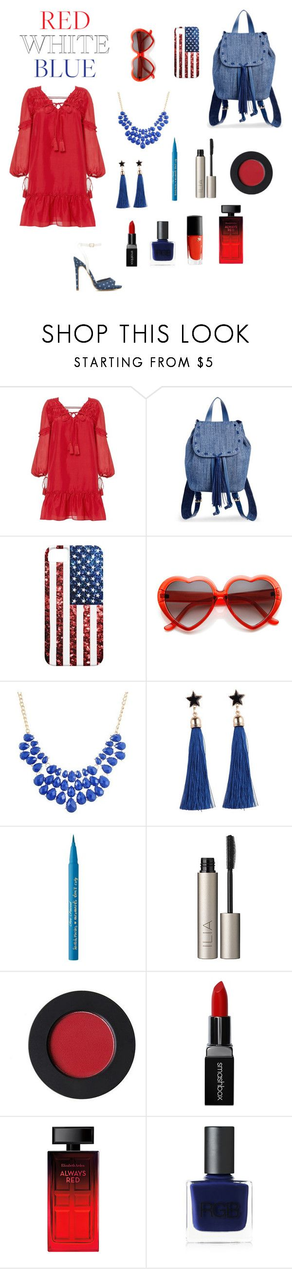 """""""It's a party in the USA"""" by danae-zzz ❤ liked on Polyvore featuring 10 Crosby Derek Lam, Steve Madden, Too Faced Cosmetics, Ilia, Smashbox, Elizabeth Arden, RGB Cosmetics and Lancôme"""