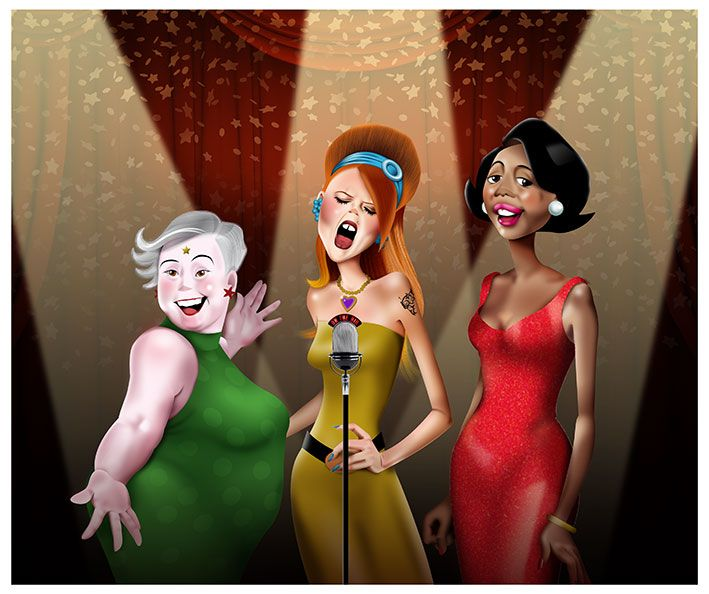 Cor per a la festa de Cap d'Any. Coro para la fiesta de fin de año. New year party.  By Carme Badia