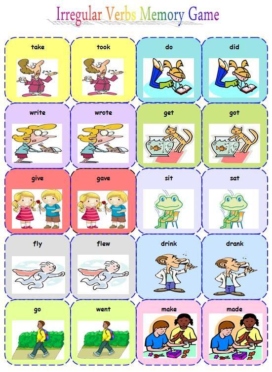 Class Games On Irregular Verbs For Teens 38