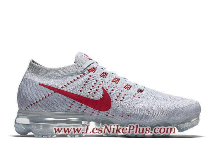 Sneaker Nike Air Vapormax Flyknit Chaussures Officiel Prix Pas Cher Pour Homme  Blanc Rouge 849558-