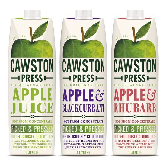 Cawston Press Apple Juices packaging by Pearlfisher