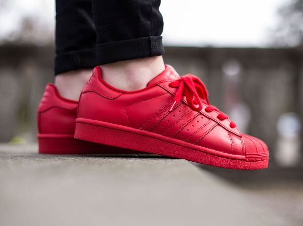 adidas superstar red colour