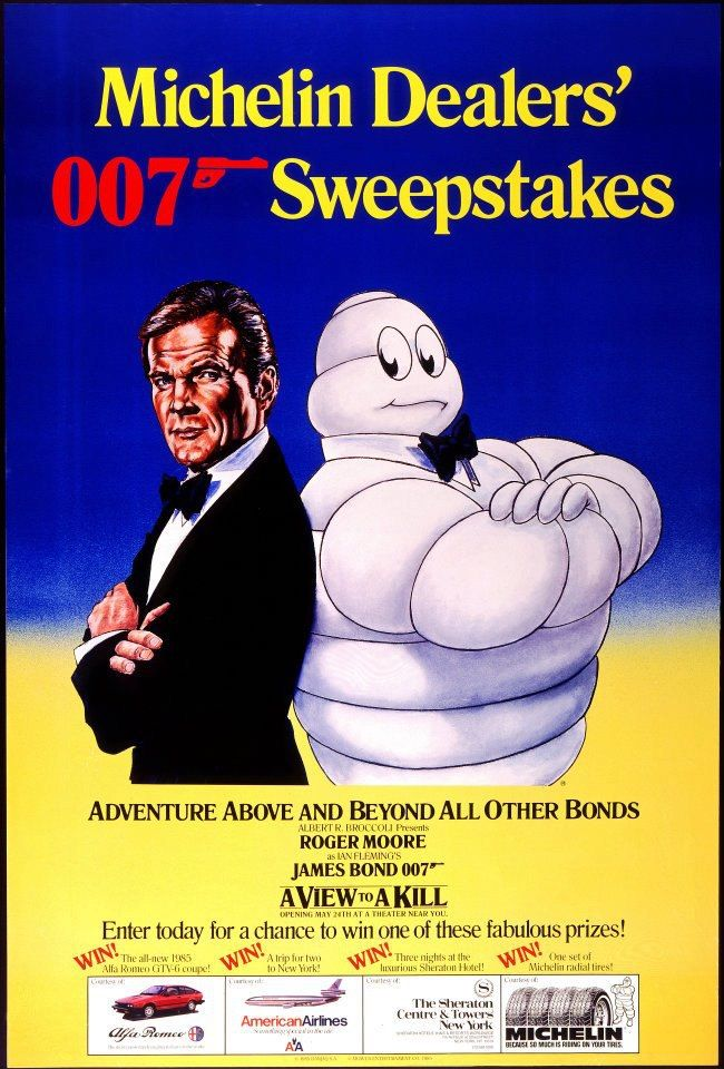 Did you know Michelin helped out James Bond in a View to a Kill? When 007 was underwater he sucked air from a Michelin tyre to stay alive.