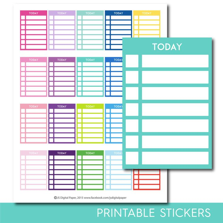 Today stackable stickers, Today checklist stickers, Today stickers, Today planner stickers, Today full box, Today sidebar, STI-286