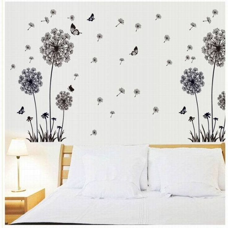 Make A Wish Dandelion Quote Wall Sticker / Floral / Pretty / Wish / Seed  Stems