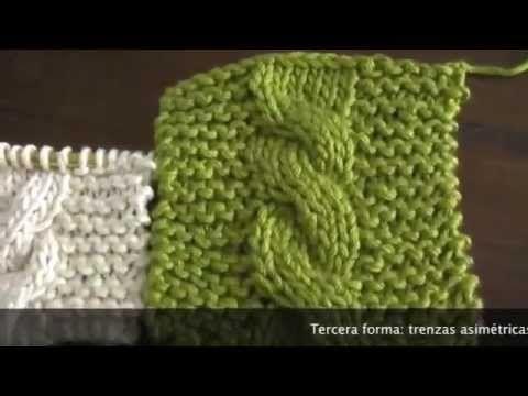 92. Teje Conmigo una bufanda con trenza reversible - YouTube