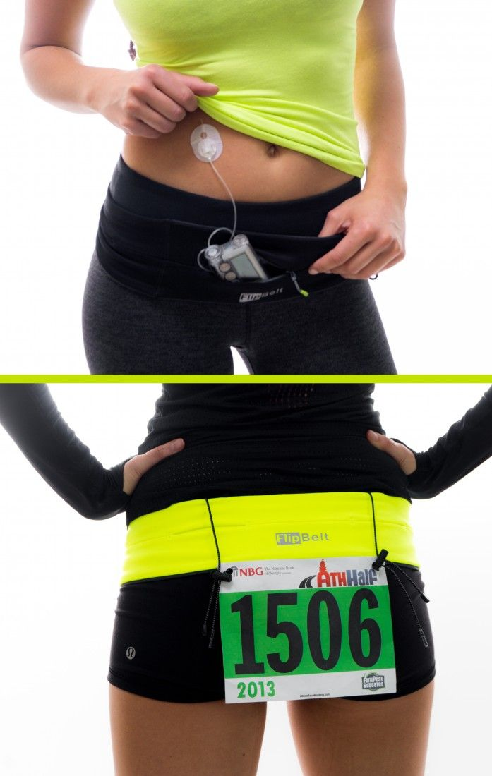 The very handy FlipBelt holds it all while you exercise!