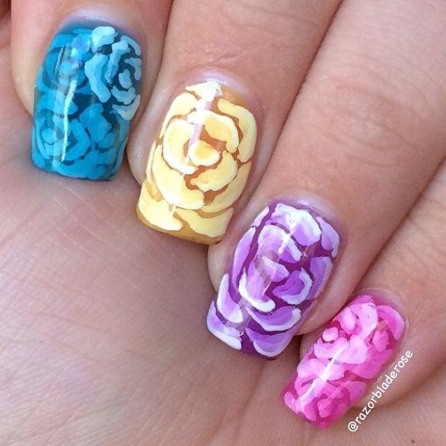 razorbladerose #nail #nails #nailart
