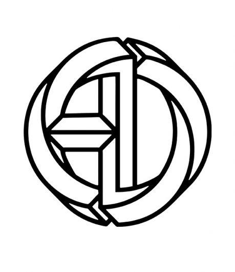 logo ad monogram #icon #optical #illusion
