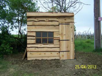 abri de jardin en planche brute de hetre par deroch sur le cdb cabane en bois pinterest. Black Bedroom Furniture Sets. Home Design Ideas