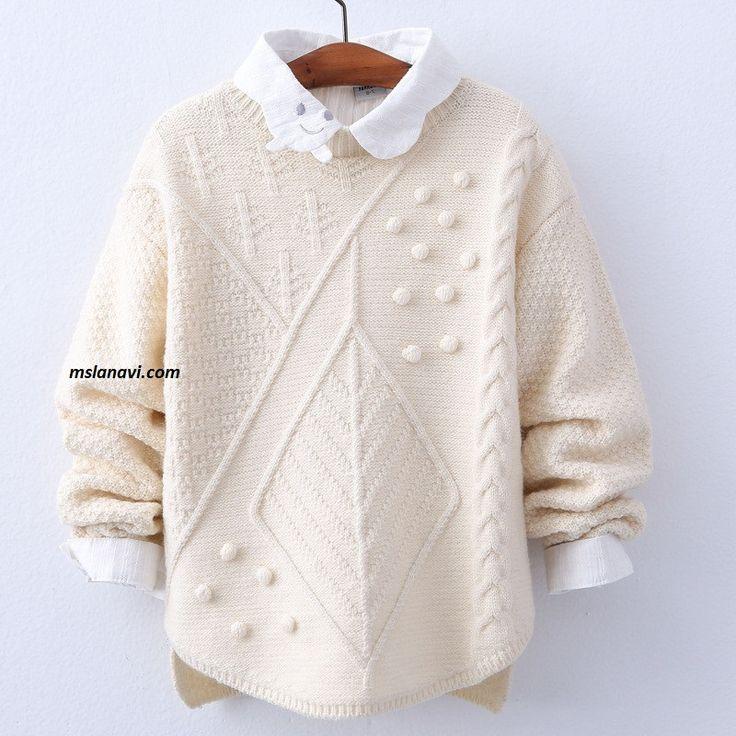 Вязаный детский свитер  - схемы