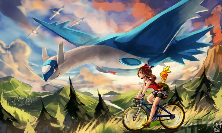 Pokemon ORAS : Welcome back by Sa-Dui.deviantart.com on @DeviantArt (Torchic, Latios and Wingull)
