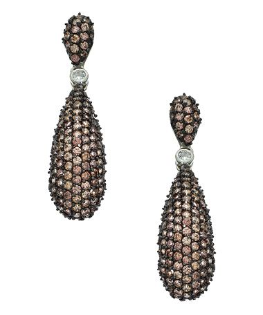 Vivian Jacob Elongated CZ Double Drop Earrings #maxandchloe