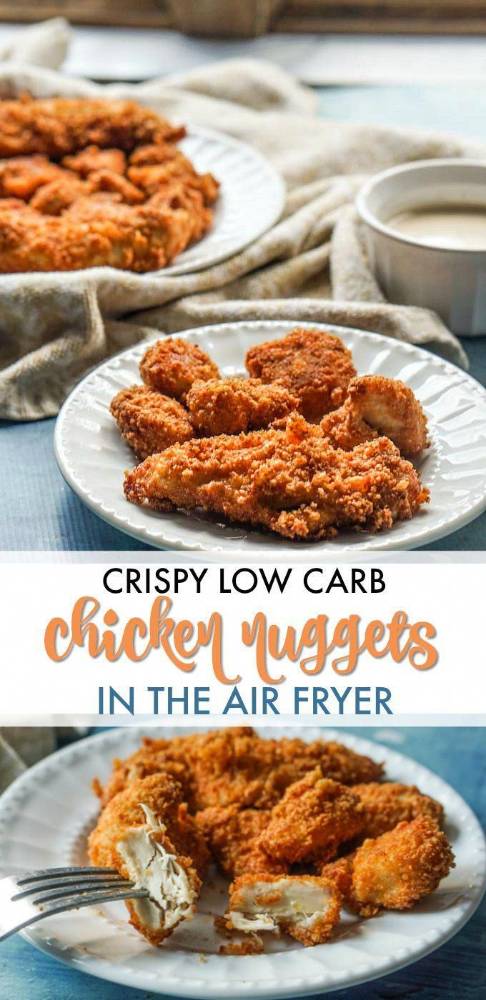 Crispy Low Carb Chicken Nuggets in the Air Fryer Recipe