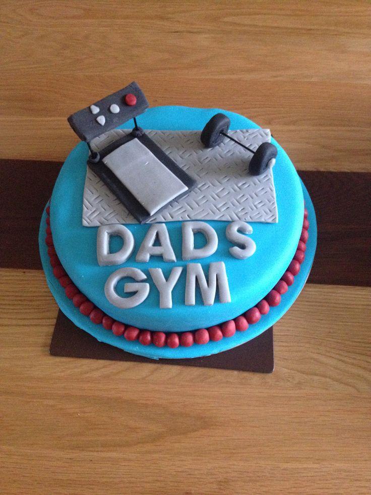 Gym cake. Chocolate sponge and buttercream.