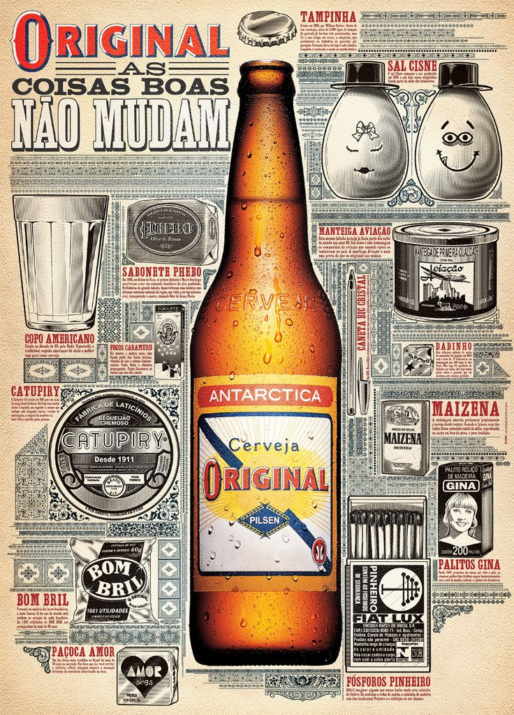 Poster Cerveja Original PDV - Pedro Zuccolini / Design - Illustration                                                                                                                                                                                 Mais