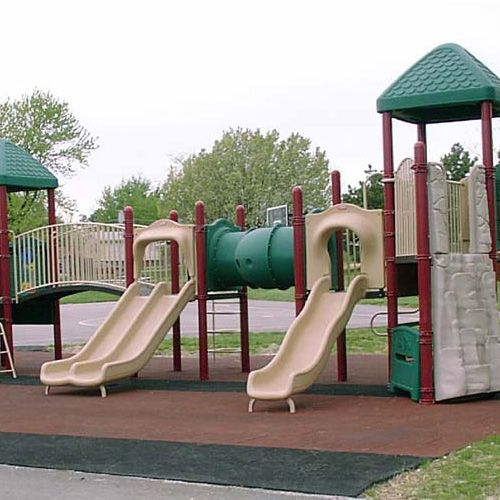 Bounce Back Rubber Playground Mats park installation