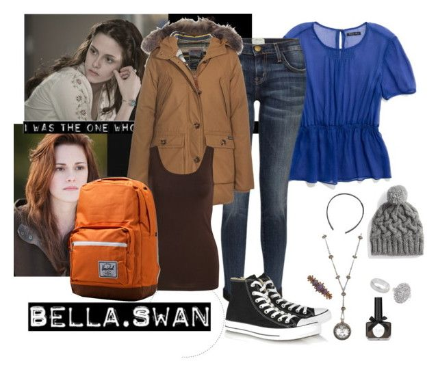 """Bella Swan"" by hafrancis ❤ liked on Polyvore featuring B. Ella, Cullen, Madewell, Current/Elliott, Vila Milano, Ciaté, Converse, Levi's, 1928 and Marc by Marc Jacobs"