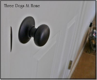 Door Knob Spray Paint Living Savvy: Spray Painter Anonymous {Three Dogs At  Home}