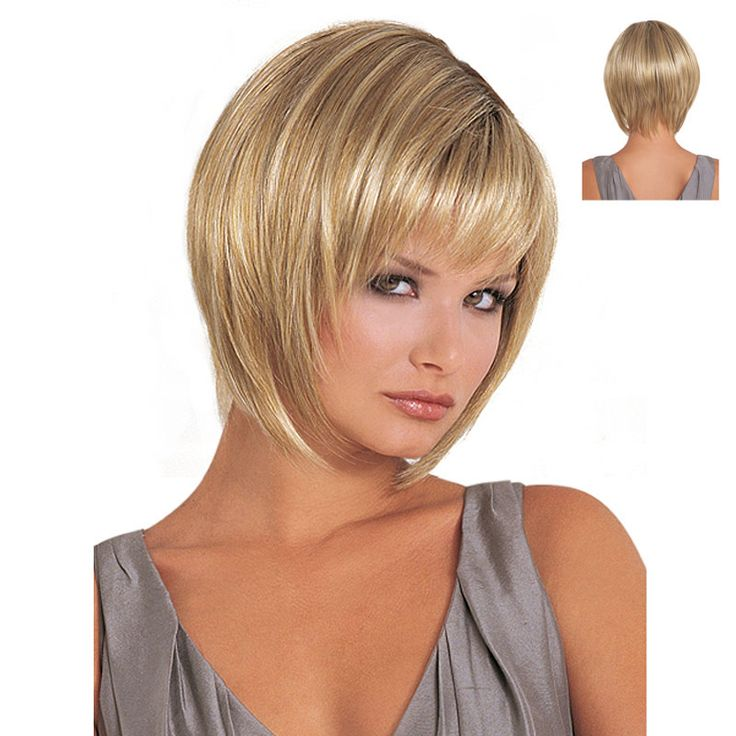 Heat Resistant Synthetic Dark Roots Blonde Ombre Wig For Women African American Wigs With Bangs Free Shipping