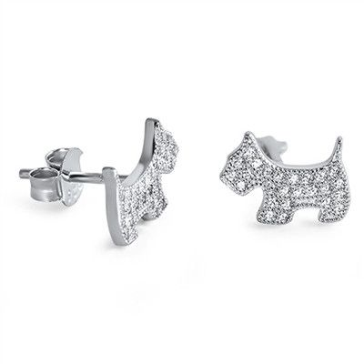 Details - Earring Height: 8 mm - Cubic zirconia - 925 Sterling Silver