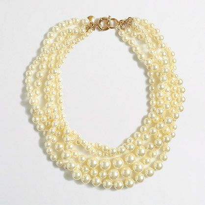 PURCHASED: I need to add this to my jewelry box this spring. J.Crew Factory - Factory multistrand pearl necklace