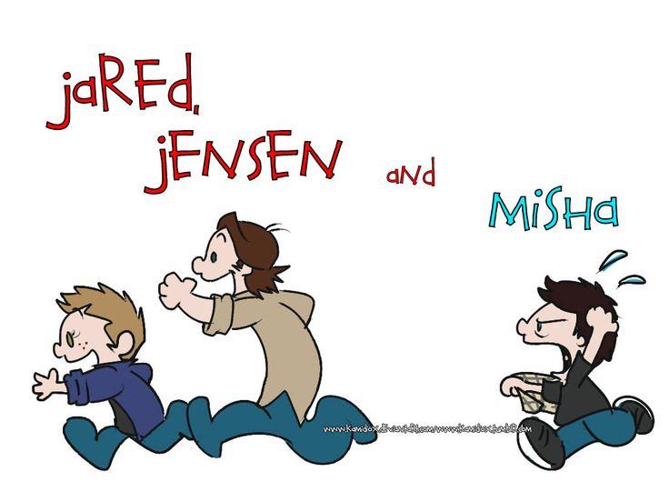 Jared, Jensen and Misha by KamiDiox.deviantart.com on @deviantART
