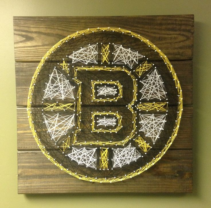 Boston Bruins String Art