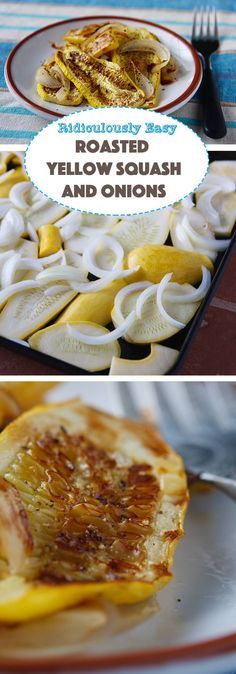 Roasted Yellow Squash with Onion