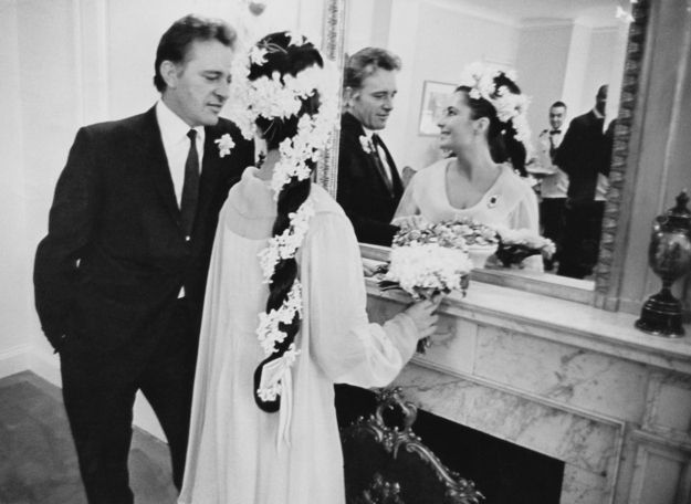 Elizabeth Taylor's marriage to Richard Burton in 1964. But, more importantly, the most amazing braided hairstyle ever. #beauty #vintage