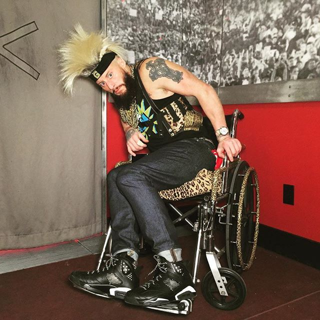wwe @wweaallday21 has a wheelchair fit for a #CertifiedG! #WWE #Raw  2016/12/27 11:34:13