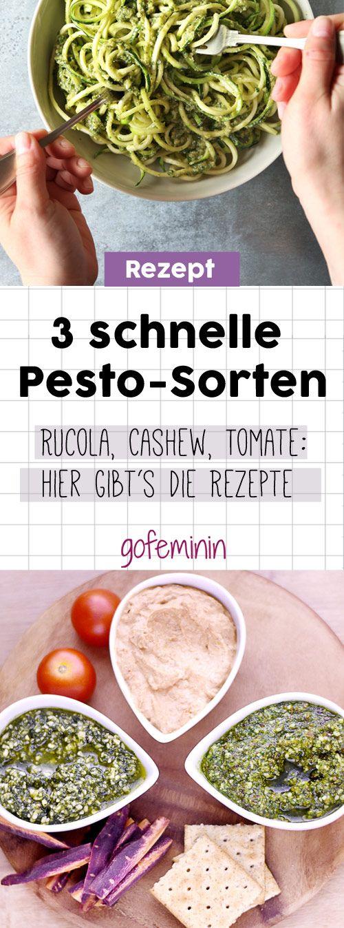 Rucola, Cashew oder Tomate: Rezept für 3 schnelle Pesto-Sorten