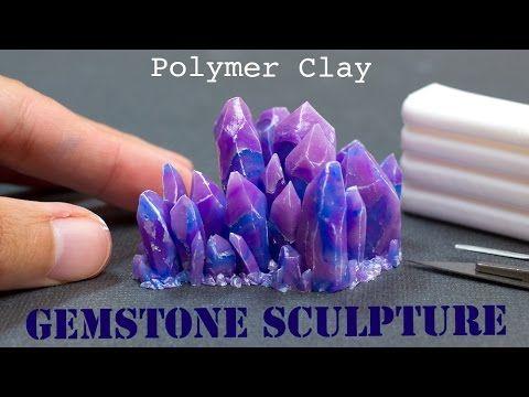 Modelar piedra preciosa con pasta fimo