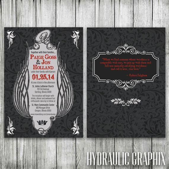 28 Best Medieval Wedding Invitations Images On Pinterest: 1000+ Ideas About Gothic Wedding Invitations On Pinterest