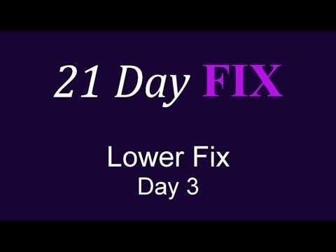 ▶ 21 DAY FIX Day 3 Lower Fix Workout FULL Video HD - YouTube