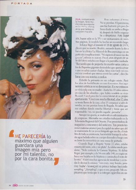 Juliana Galvis, revista Alo