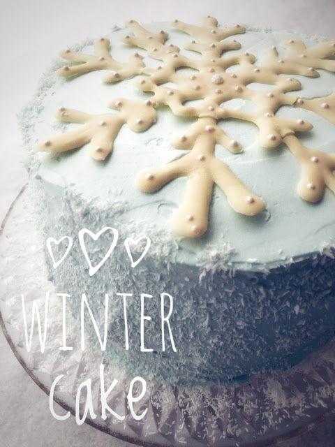 Pullantuoksuinen koti: Talviaiheinen kakku - Winter cake