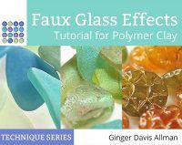 This Faux Glass Tutorial shows how to make faux sea glass, faux Roman glass shards, faux Czech glass beads, and faux carnival glass beads from polymer clay.