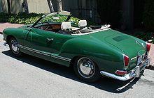 Karmann Ghia Cabriolet. Favorite car design ever.