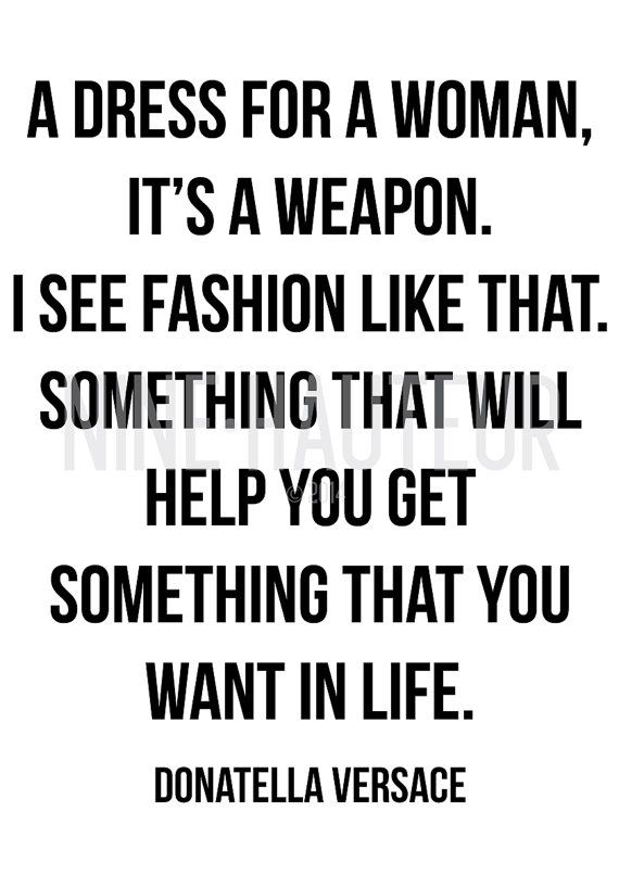 Donatella Versace Fashion Quote - A3 Poster    Instant Download Wall Art    • Digital Download - PDF    #FashionQuote #Quote #FamousQuote