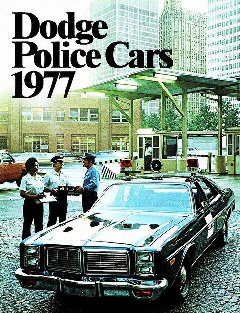 Vintage Police Car Brochure - Dodge Police Cars 1977 ★。☆。JpM ENTERTAINMENT ☆。★。